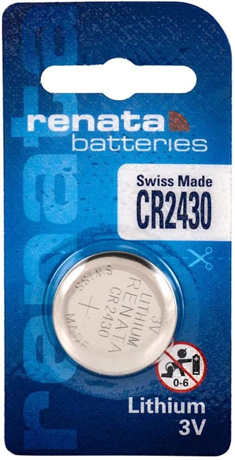 Renata CR2430 Lithium Coin Cell Battery 1 - Piece Chicago Max 75% OFF Mall Retail Packagi