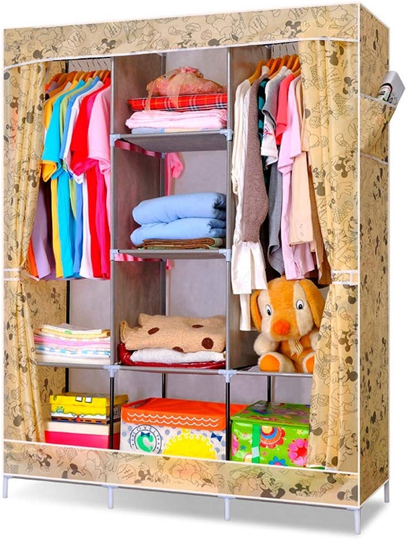 fc8453350024 Jiu Si- Cloth Wardrobe Dustproof Folding Combination Cloth Wardrobe ...