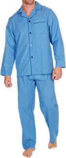 Mens Insignia Plain Poly Cotton Pyjamas Set Traditional Classic Cut