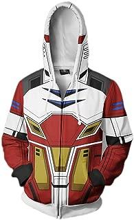 Xinxin Gundam Anime 3D Cosplay Cardigan Zip Hoodie/Unisex Adult