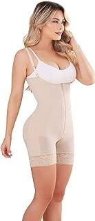 055 Fajas Colombianas Reductoras y Moldeadoras High Compression Garments Bodysuit Covered Back