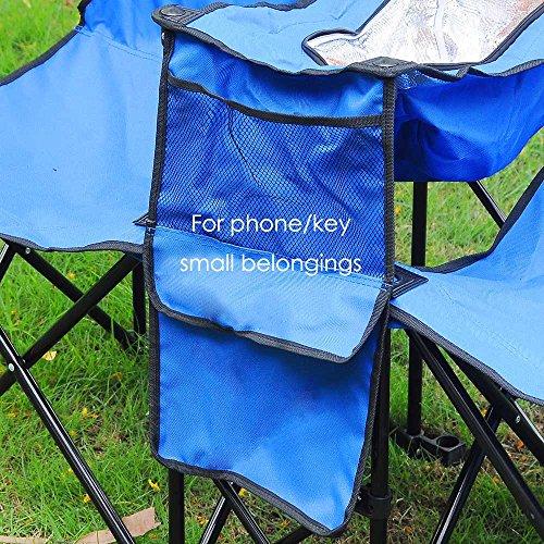 Yescom Double Folding Chair w Umbrella Table Cooler Fold Up Picnic Camping Beach Garden