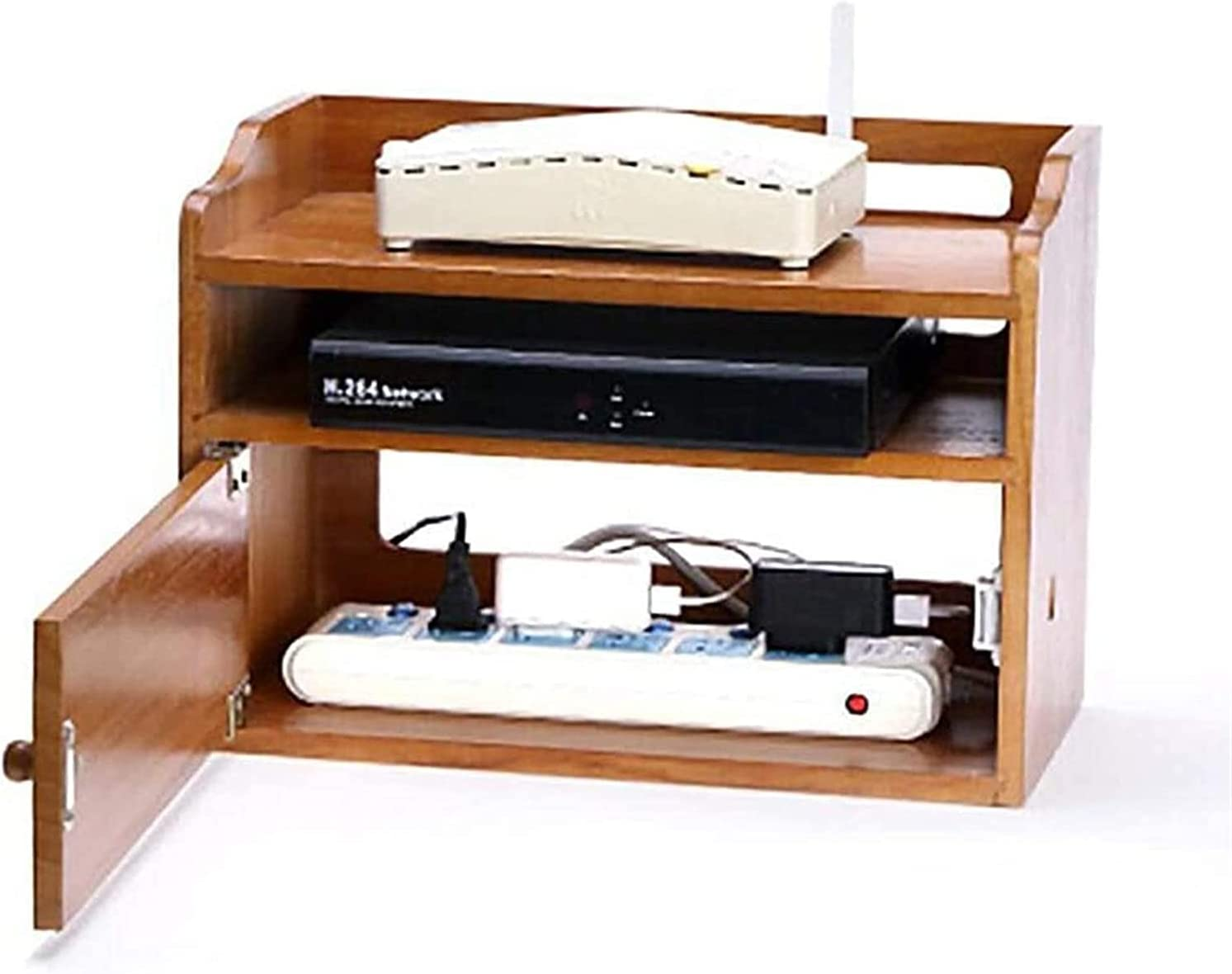 FMOGE Los Angeles Mall Router Rack Set-top B Popular products Box Storage