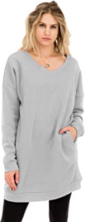 NANAVA Women's Casual Loose Fit Long Sleeves Over-Sized Sweatshirts