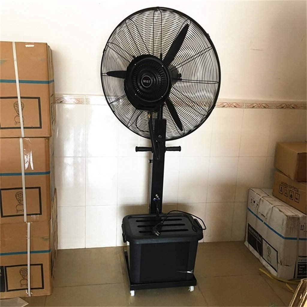 yanzz Ventiladores Ventilador de Pedestal, Ventilador rociador de nebulización móvil con polea/Tanque de Agua de 40L, Humidificador de Piso de enfriamiento oscilante Atomización Vertical industr