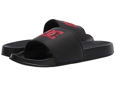 DC Slide (Black/Red) Men