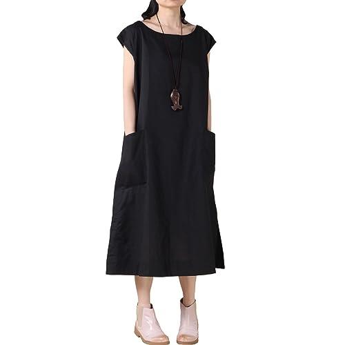 Womens Black Linen Dress Amazon