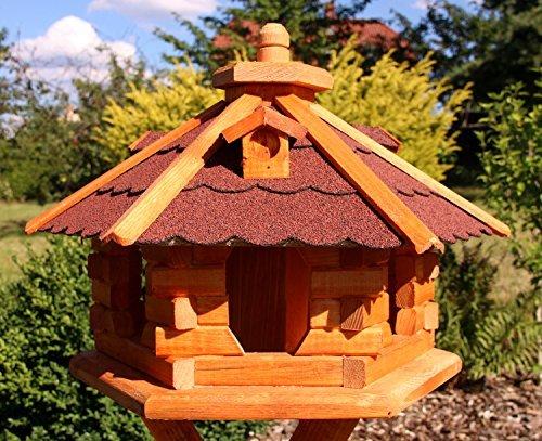 holzdekoladen Vogelhaus mit Bitumenschindeln Typ 4 (rot)