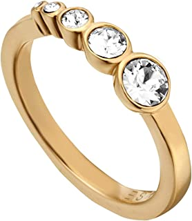 Esprit Twinkle Ring For Women , Stainless Steel - Esrg00212217, 17 mm Gold