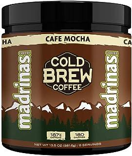 Madrinas Coffee Mocha Cold Brew Powder (13.5oz, 8 Servings), Mocha, 13.5 Oz