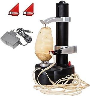 Malayas Eplucheur de pommes de terre electrique KKWLELEL [2 lames supplementaires] - Coupe automatique de fruits et legume...