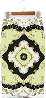 Summer Style Pencil Skirt Women High Waist Skirts Bodycon Floral Print Midi Skirt