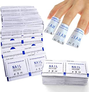 DALUCI Nail Polish Remover Wraps, Nail Art Soak Off Finger Cap Clip Polish, Acrylic Cleanser Pads, Manicure Cleaning Tools (40 PCS)