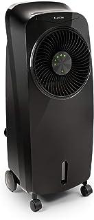 KLARSTEIN Rotator - Enfriador de Aire, Ventilador, Ionizador, Humidificador, 110 W, Cool Breeze, 3 velocidades, 3 Modos, Temporizador 8 h, Depósito de Agua de 7 L, Mando a Distancia, Negro