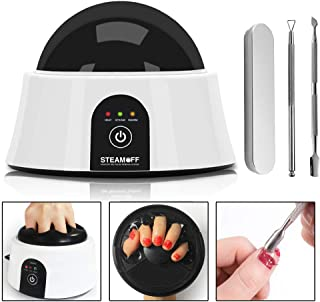 Upgraded Steam Off Gel Nail Remover Machine, Portable Electric Nail Steamer with Cuticle Pusher Spoon Tools for Gel Polish Acrylic Dip Nails Removal (02)