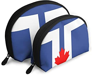 Flag Of Toronto Toiletry Organizer Travel Decor Portable Bags Clutch Pouch Storage Bags With Zipper