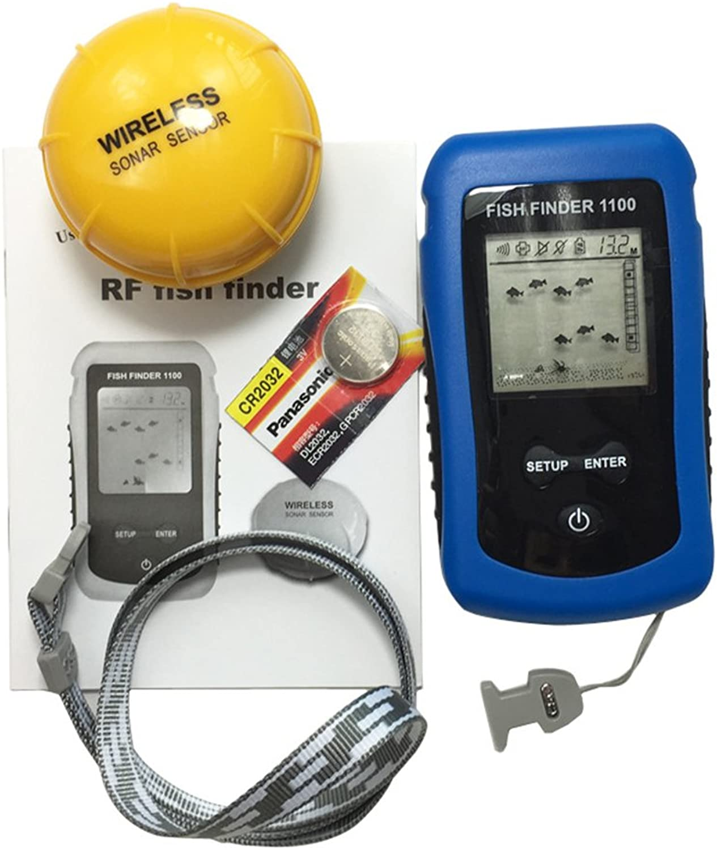 Portable Wireless Fish Finder Ultrasonic Fish Detector Display of Large Small Fish Transducer Sensor Depth Finder TF-8203