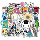 100Pcs Girl Cute Lovely Laptop Stickers Water Bottle Skateboard Motorcycle Phone Bicycle Luggage Guitar Bike Stickers Decal Pack for Teens Girls Kid (A)