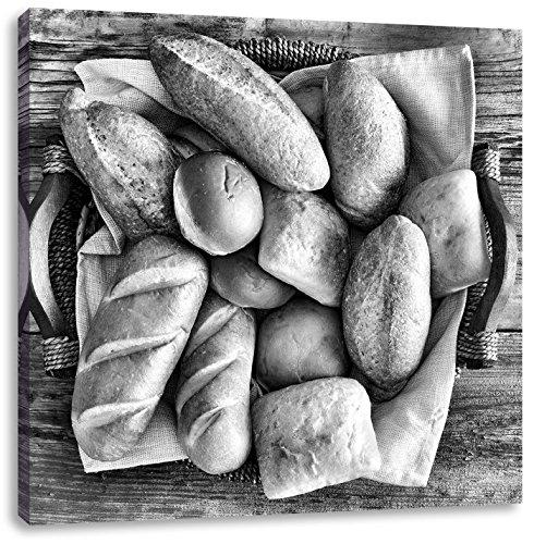 Brood tarwe ontbijtCanvas Foto Plein   Maat: 70x70 cm   Wanddecoraties   Kunstdruk   Volledig gemonteerd