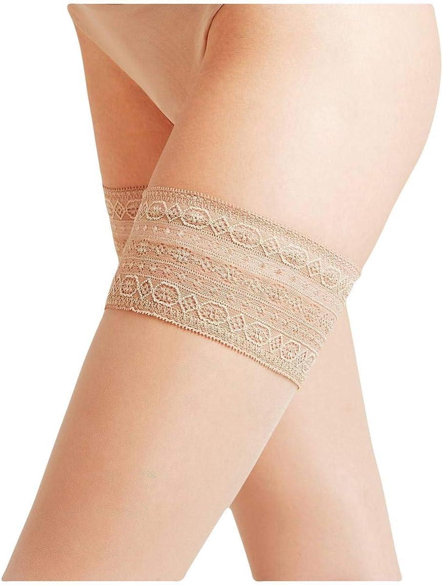 Falke Womens Seidenglatt 15 Den Stay Up Transparent Stockings - Cocoon Beige