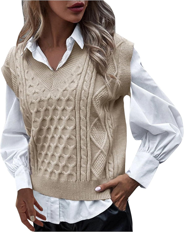 Hemlock Women Plaid Knitted Lattice Columbus Mall Vest Max 48% OFF Cropped Sweater
