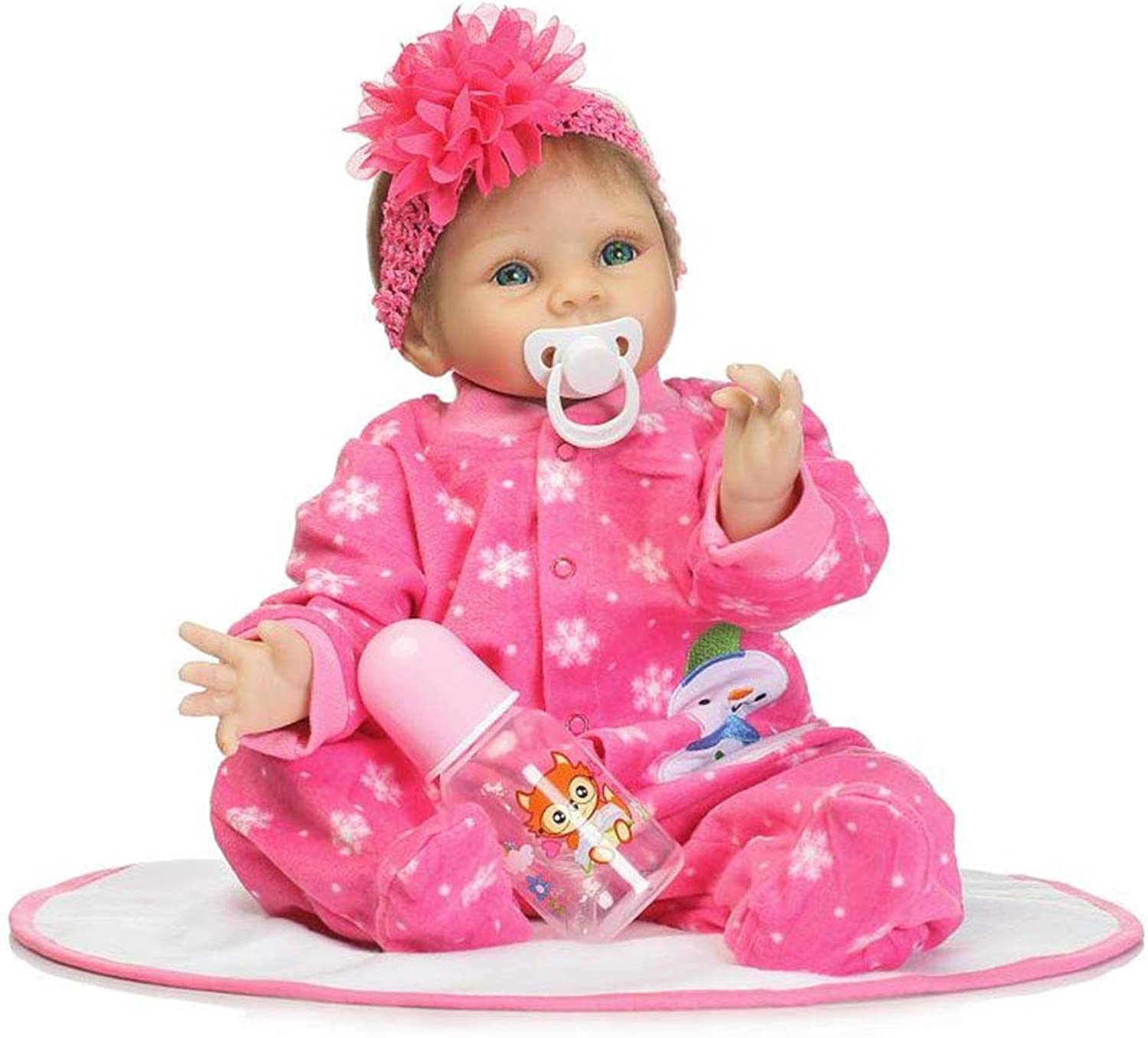 Belegend NPK 55cm Silicone Reborn Doll Set Lifelike Baby Newborn Dolls with Clothes for Kids Playmate