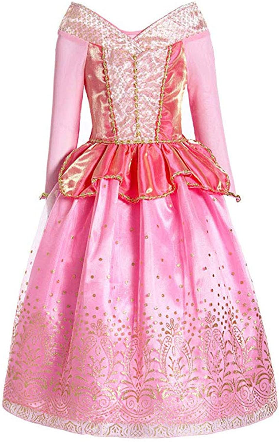 A_Feel Party Dress Queen Costume Princess Cosplay Dress Up Girls Princess Dress Up Aurora Costume (Size   XL(130140cm))