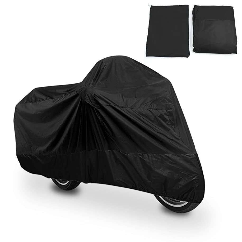 uxcell XL 180T Rain Dust Protector Black Scooter Motorcycle Cover 96