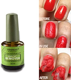 CARETHYS Magic Nail Polish Remover Professional Removes Soak-Off Gel Nail Polish In 3-5 Minutes, Easily & Quickly,Don't Hurt Your Nails
