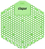clapur Urinalsieb (2 Stk.) mit Austausch-Indikator und 3d Spritzschutz, für jedes Pissoir und Urinal, grün, eckig (2x Gurke-Melone)
