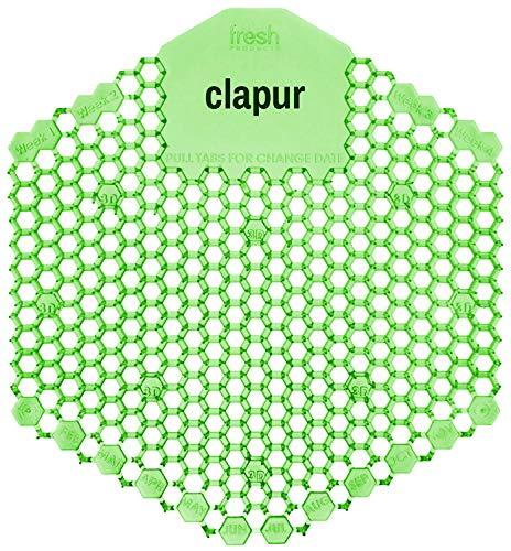 Clapur - Colador para orina (2 unidades) Con indicador de repuesto y protección contra salpicaduras 3D, para cualquier urinario y urinario, verde, rectangular (2 melones de pepino)