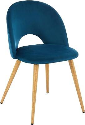 BAÏTA Eugenie Silla, Velur, Bleu Paon, H77cm
