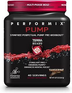 PERFORMIX PUMP Stimfree Perpetual Pump PreWorkout, StimulantFree, Enduring Muscle Pump, 40 Servings, Tangerine