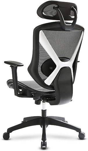 IntimaTe WM Heart Ergonomischer Bürostuhl, Chefsessel mit Höhenverstellbaren Armlehnen und Kopfstützen, Atmungsaktives Rücklehne und Sitzkissen,…