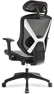 IntimaTe WM Heart Ergonomische bureaustoel, managersstoel met in hoogte verstelbare armleuningen en hoofdsteunen, ademende...