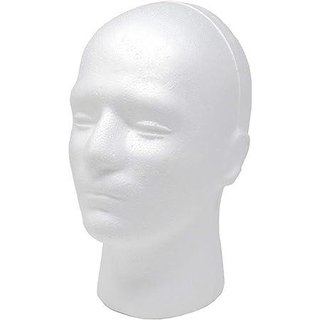 Amazon Com Male Mannequin Head Foam Wig Stand White 9 X 7 X 11 In Beauty