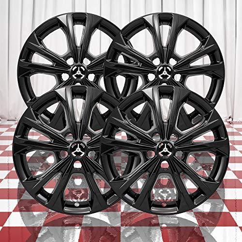 "Brighter Design Set of 4 Black 5 Double Spoke 17"" Wheel Skins for 2017-2018 Ford Escape"