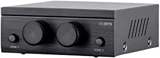 Monoprice SS2V70 70V 2-Zone Speaker Selector, 100-Watt, Individual On/Off Switch and Volume Control, Single 2-Conductor Input