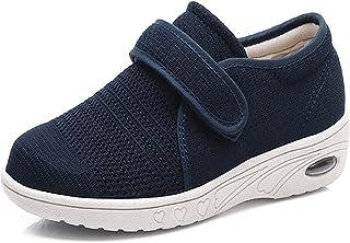 Chaussures Diabétiques pour Femmes Coussin d'air Respirant Chaussures Marche Réglables Confortables Baskets De Plein Air p...