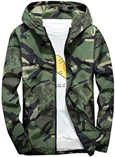 Sunward Stylish Coat for Men,Men's Winter Hoodie Soft Shell Camouflage Waterproof Windproof Outdoor Coat