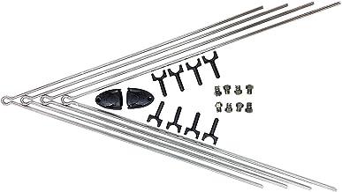 SKS Unisex Adult Chromoplastics/Longboard Full Spares Kit, Zwart, One Size