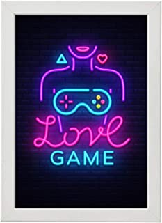 Gaming Wall Frame Photo, 30-20 cm, White - WGG-LO7ATI