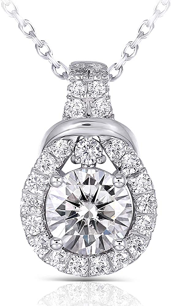 Factory outlet DovEggs Platinum Kansas City Mall Plated Silver Center 1ct color 6.5mm Mois G-H-I