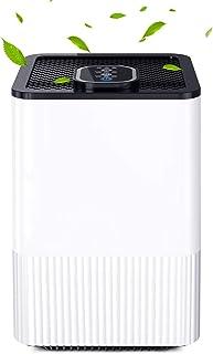 Luchtreiniger met 4-in-1 HEPA-filter, Nachtlampje en Timer, Luchtreiniger voor Thuis elimineert Rook, Stof, Pollen, Huidsc...