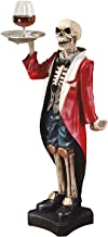 Design Toscano Bones the English Skeleton Butler Gothic Pedestal Table, 36 Inch, Polyresin, Full Color