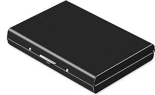 Storite 6 Slots Stainless Steel RFID Blocking Metal Credit Card Holder Wallet –(Black, 10 x 7 x 1.3 cm)