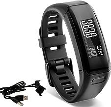 Garmin vívosmart HR Activity Tracker Regular Fit - Black, with Extra Charger