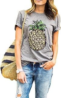 Women's Summer Street Printed Tops Funny Juniors T Shirt Short Sleeve Tees