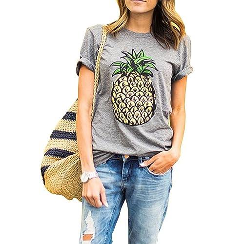 0a11868f Haola Women's Summer Street Printed Tops Funny Juniors T Shirt Short Sleeve  Tees