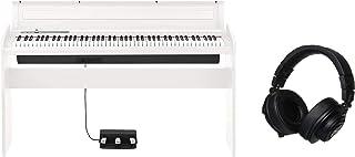 KORG(コルグ) 電子ピアノ LP-180-WH 88鍵 ホワイト ペダル、譜面立て付属 アコースティック・ピアノタッチを再現したNH鍵盤 &ヘッドホンセット